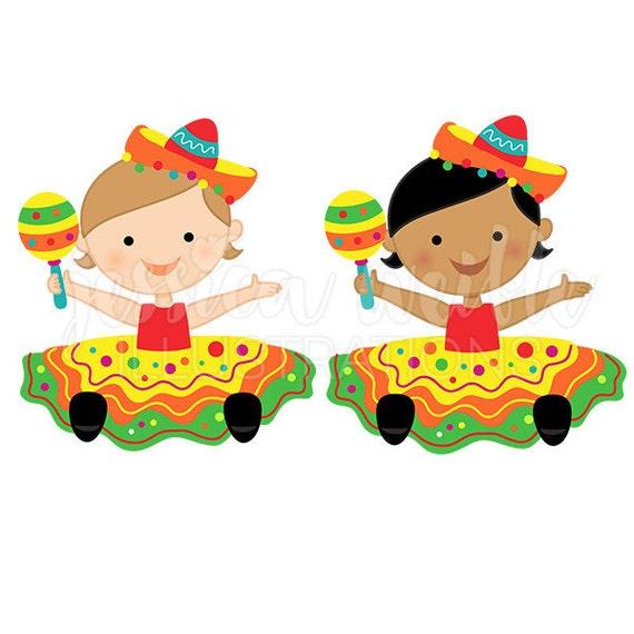 fiesta baby girl cute digital clipart baby fiesta girl clip art rh etsystudio com fiesta clip art borders fiesta clip art images