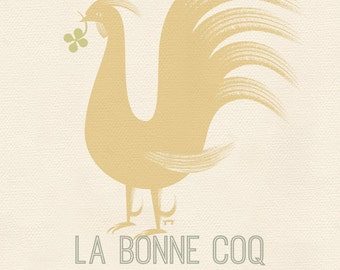 French Kitchen Decor, Rooster Poster, Rooster Kitchen Decor, Rooster Gift