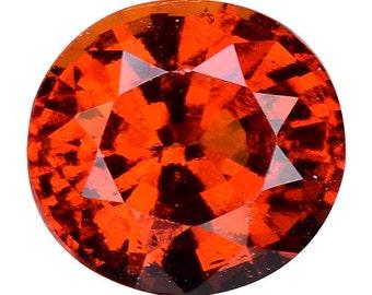 1.500CTS Magnetic luster orange natural hessonite garnet oval loose gemstones
