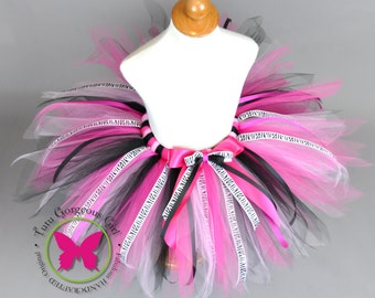 Hot Pink and Black Zebra Birthday Tutu...First Birthday Zebra Cake Smash Tutu...Punk Rock Birthday Tutu....Bachelorette Tutu...PARTY IN PINK