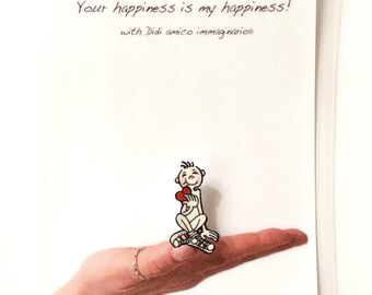 Pin DIDI polyshrink Handmade Love Pin