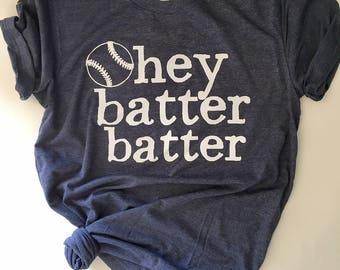 Hey Batter Batter - Baseball Tee