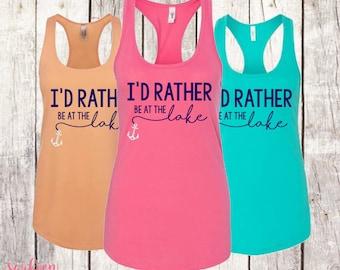 I'd Rather Be At The Lake Tank Top, Lake Tank Top, Lake Shirt, Lake Tank, Lake Life, Lake Life Tank, Lake Life Shirt, Lake Hair, Lake Living