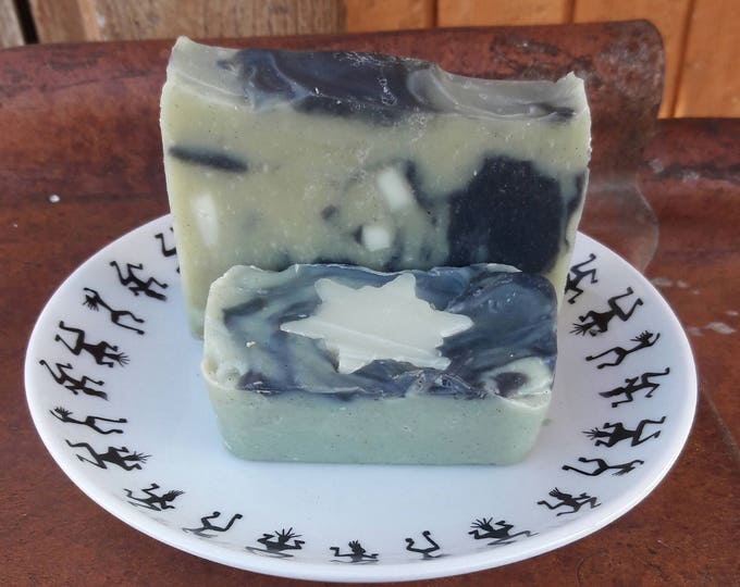 Arctic Blast All Natural Soap with peppermint, eucalyptus, lemon, & cinnamon essential oils