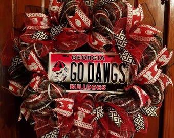 Georgia Bulldogs Wreath.  26 inch