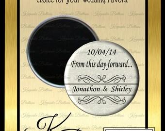 "Wedding Favors, 2.25"" Custom Wedding Magnet, Love Is In The Air Wedding Favor, Custom Wedding Favors, Wedding Keepsake, Refrigerator Magnet,"