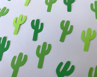 Green Cactus Confetti - Fiesta Decorations - Fiesta First Birthday Party - Cactus Decorations - Southwest Party Decor - Southwest Confetti
