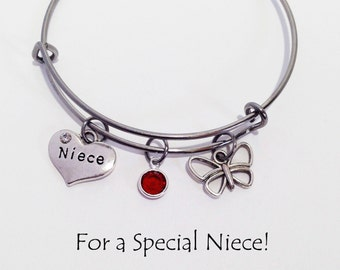 Gift for niece etsy birthday gift for niece niece jewelry niece bracelet niece gift niece charm negle Choice Image