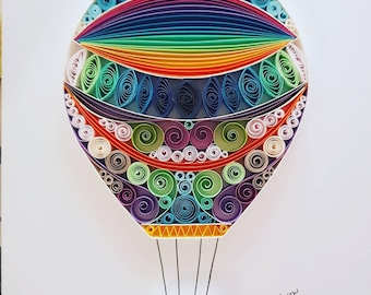 Quilled Paper Art: Flying balloon