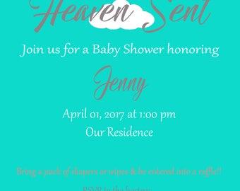 Heaven Sent Invitation