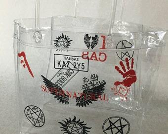 Custom Supernatural Transparent Tote