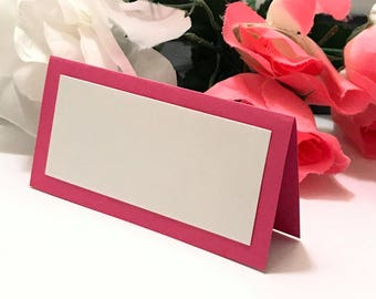 25 Dark Pink Elegant Name Place Cards For Weddings, Birthdays, Baby Showers