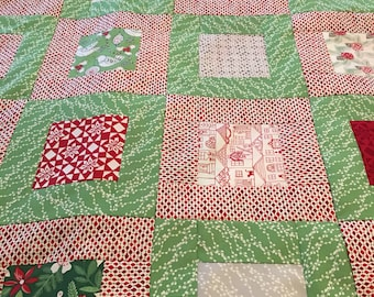 Merry Merry Kate Spain fabric Quilt Top