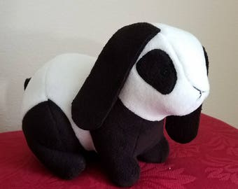 Handmade Panda Bunny Rabbit Stuffed Animal Plushie