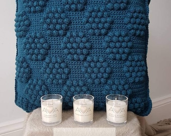 Crochet Bobble Cushions with Insert | Handmade Cushion | Modern Decor | Modern Crochet | Throw Pillow | Crochet Cushion