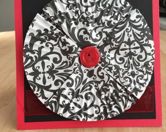 Passionate Red Valentines Day Anniversary Card