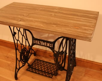 Singer Sewing Machine Treadle Table - Desk, Console Table, Telephone Table