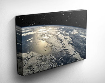 Earth Space Photo Wall Art Outer Space Art Planet Solar System Stars Print Space Print Space Art Outer Space Print