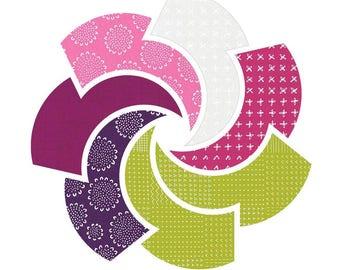 Martha's Vineyard Mystery Quilt Colors Blueberry Park for Robert Kaufman Fabrics  - 6 print bundle -  Quilters Cotton