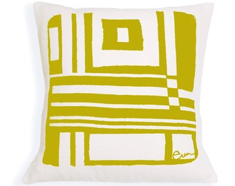 Bold Geo 20in Pillow in Golden Rod