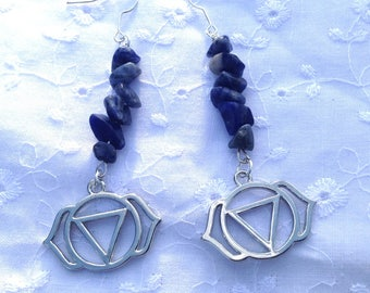 Loop Sodalite Chakra earrings