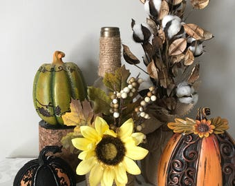 Fall Sunflower wine bottle
