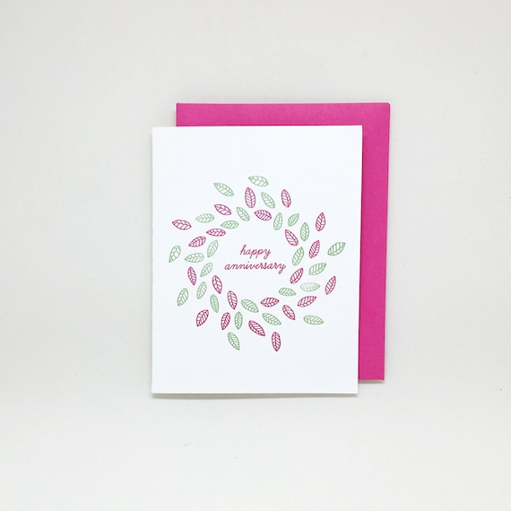 Letterpress anniversary card anniversary card for parents like this item m4hsunfo Gallery