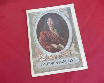 original Program of Comedie Francaise Booklet from 1931 with the stars from the french theatre