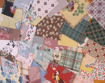 1950s Wallpaper Large Lot of 50 Pieces Assorted Pattern Designs (#3) Scrap Book - Many to choose from!