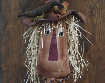 Sammy The Scarecrow on Wooden Bobbin E Pattern