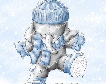 Cupcakes Winter Walk, digital stamp.