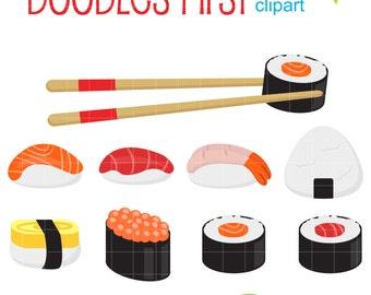 sushi clip art etsy rh etsy com sushi roll clipart sushi clipart kawaii