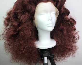 Center-Parted Messy Curls Lace Front Wig