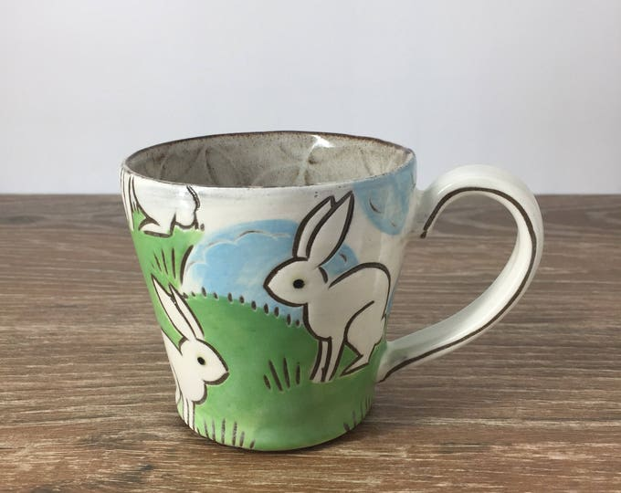 Featured listing image: Handmade Mug with rabbits