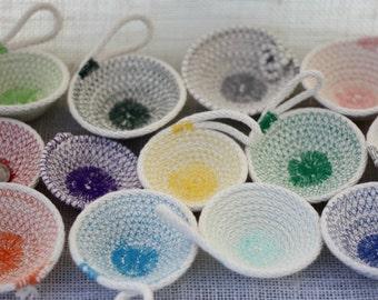 RAINBOW Small Baskets: Set of TWELVE