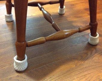 metal chair leg glides. Chair Socks - Crochet Leg Cozy Floor Protector Covers Glides Metal R