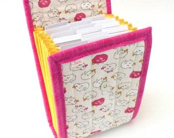 Circular Needle Case - Pink Sheep - Needle Holder Needle Wallet Circular Needle Organizer Organiser