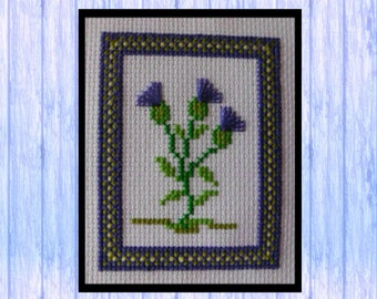 Scottish Thistle Cross Stitch, Instant Download, Original Cross Stitch Design from Scotland