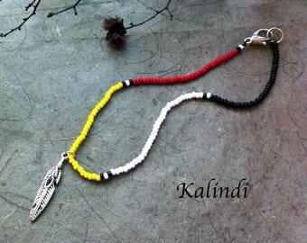 Bracelet Native American Anklet, Handmade Anklet, Howlite, Beaded Anklet, Ankle Bracelet, Summer Jewelry, black Anklet, Seed Bead Anklet