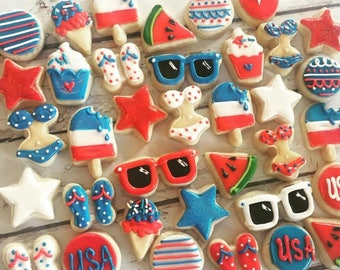 Mini Fourth of July cookie assortment