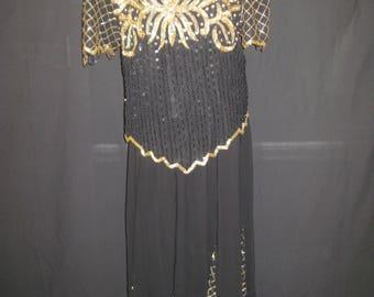 Black/gold 2pc set# 1676