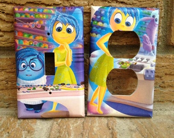 Inside Out Light Switch and Electrical Outlet Cover, Inside Out Joy, Inside Out Anger, Inside Out Sadness, Inside Out Decoration, 1