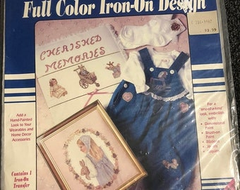 MAYniaSALE Vintage, Plaid, Cherished Memories, Fashion Show Originals, Iron on Design, 57944