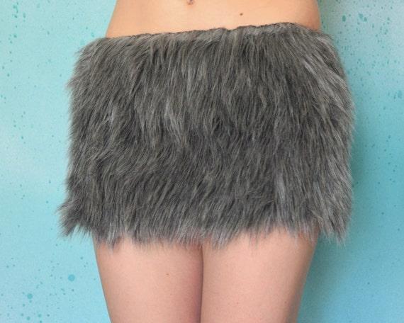 Faux Fur Skirt