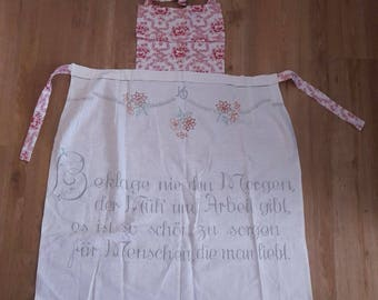 Upcycled Apron Apron with slogan
