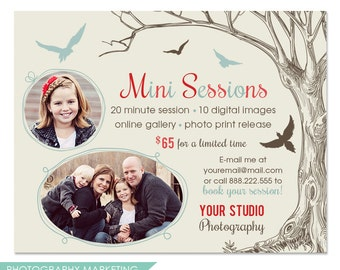 Photography Marketing Board Template - Fall, Winter Mini Sessions - INSTANT DOWNLOAD