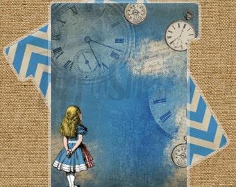 Planner Dividers Alice in Wonderland Themed Tabbed Dividers (Set of 4 or 6)