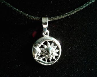 Sterling Silver Sun and Moon charm
