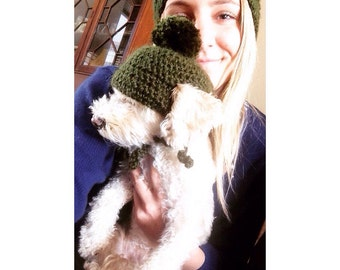 Crocheted Dog Beanie