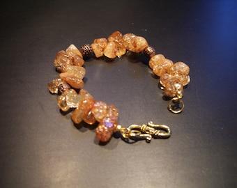 Ice Flake Quartz Bracelet (No.75)